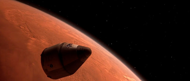 Mars ascent vehicle in Martian orbit - Mission to Mars movie image