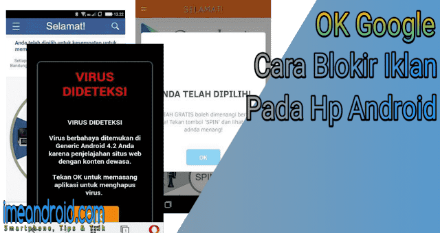Cara blokir iklan pop up di aplikasi hp android