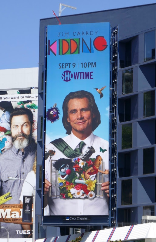 Jim Carrey Kidding series launch billboard