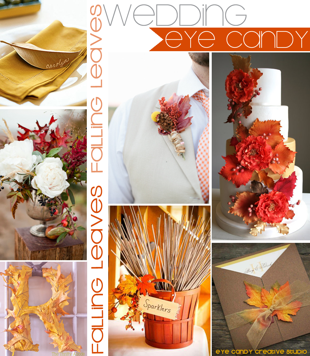 leaf place card, fall wedding, leaves bouquet, fall inspiration, leaves on cake