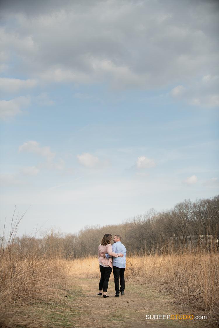 Open field Nature Ann Arbor Spring Engagement Pictures by SudeepStudio.com Ann Arbor Wedding Photographer