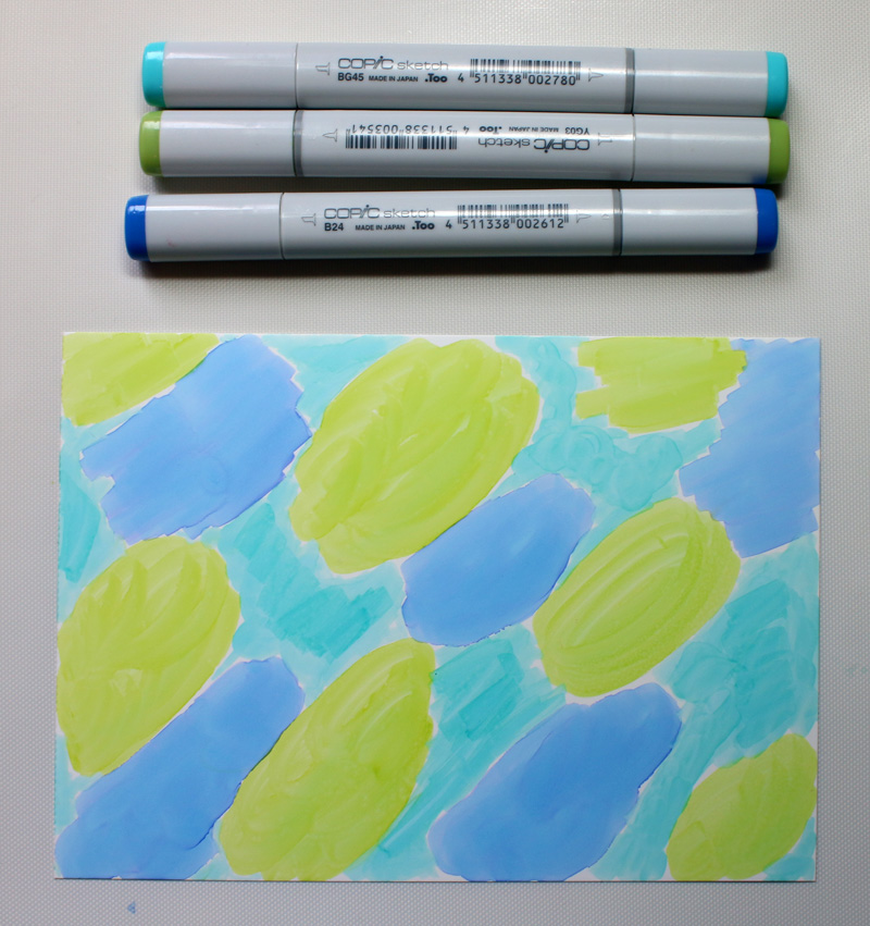 Taylor Stamped Yupo Marbled Background