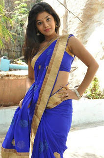 Blue-saree-photo