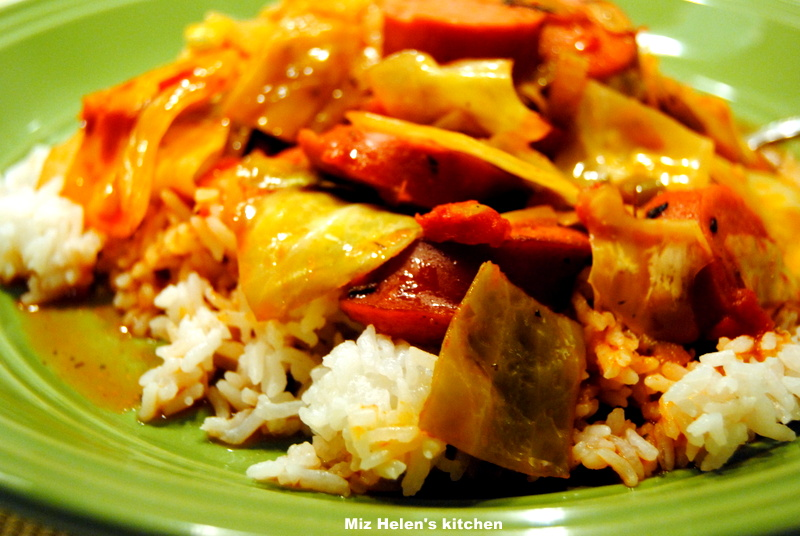 Cajun Cabbage With Rice