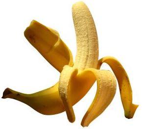 Foto de un plátano listo para comer