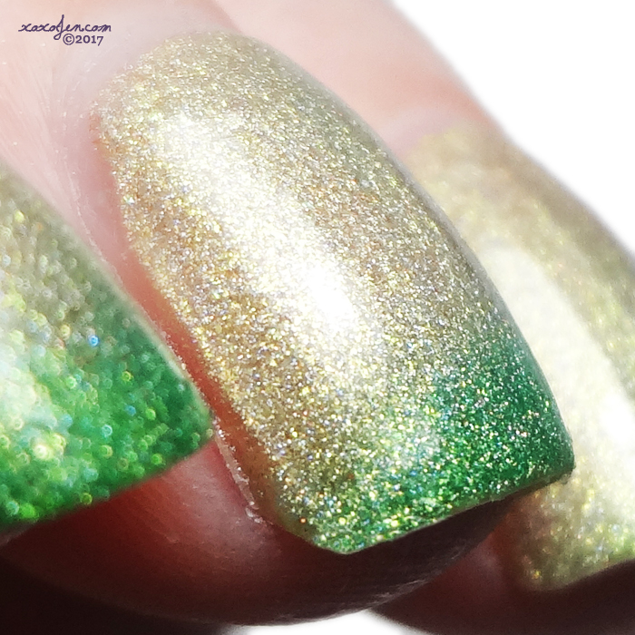 xoxoJen's swatch of Great Lakes Lacquer The Grass Is Greener For A Reason