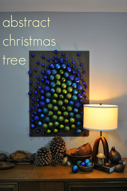 Abstract Christmas Tree Art Project