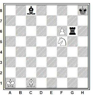 Problema ejercicio de ajedrez número 722: Estudio de V.A. Korolkov (1951)