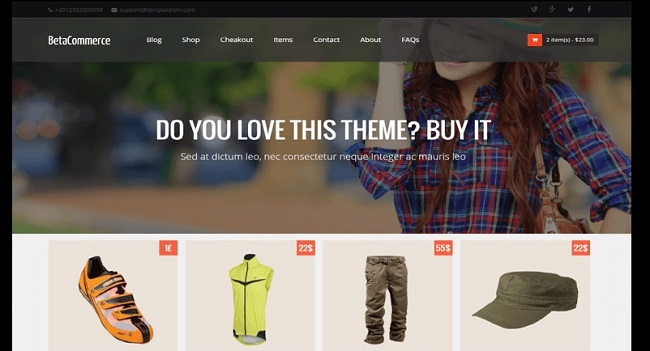 Betacommerce Shopping Online Store Blogger Template