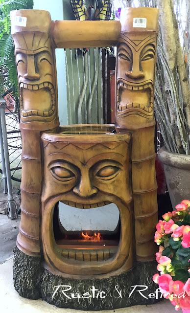 Hawaiian style fireplace