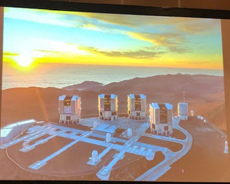 The Very Large Telescope in Paranal, Chile (Source: , Stefan Gillessen, Gravity Collaboration at APS Meeting in Denver)