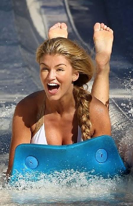 Retro Bikini: Amy Willerton wears a White Bikini as she ...
