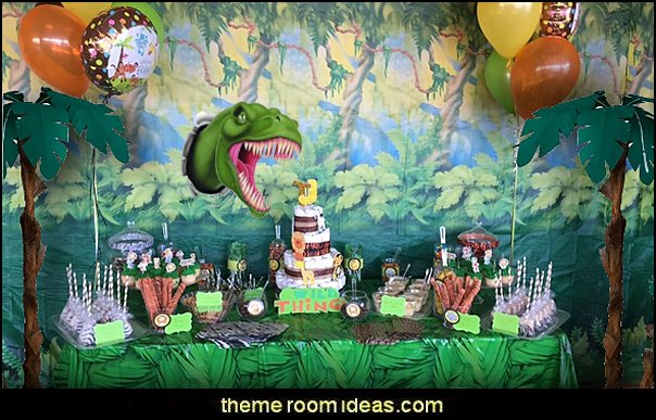 dinosaur party decorating