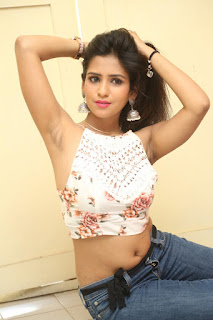 Deekshita Parvathi in a short crop top and Denim Jeans Spicy Pics Beautiful Actress Deekshita Parvathi January 2017 CelebxNext (201).JPG