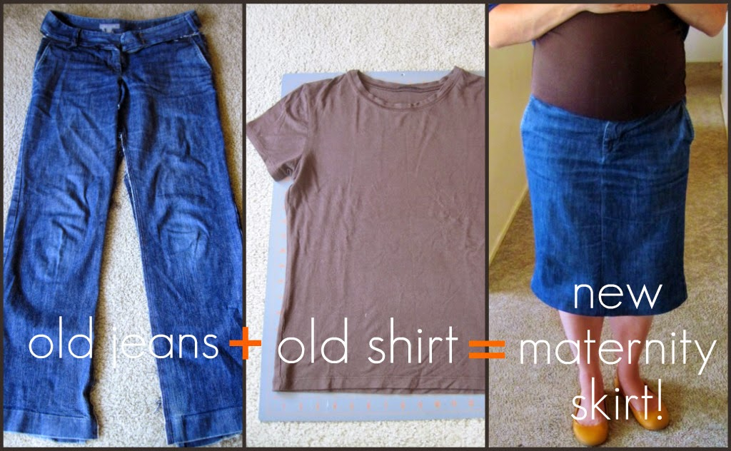 do it yourself ideas and projects refashioned jeans to maternity skirt