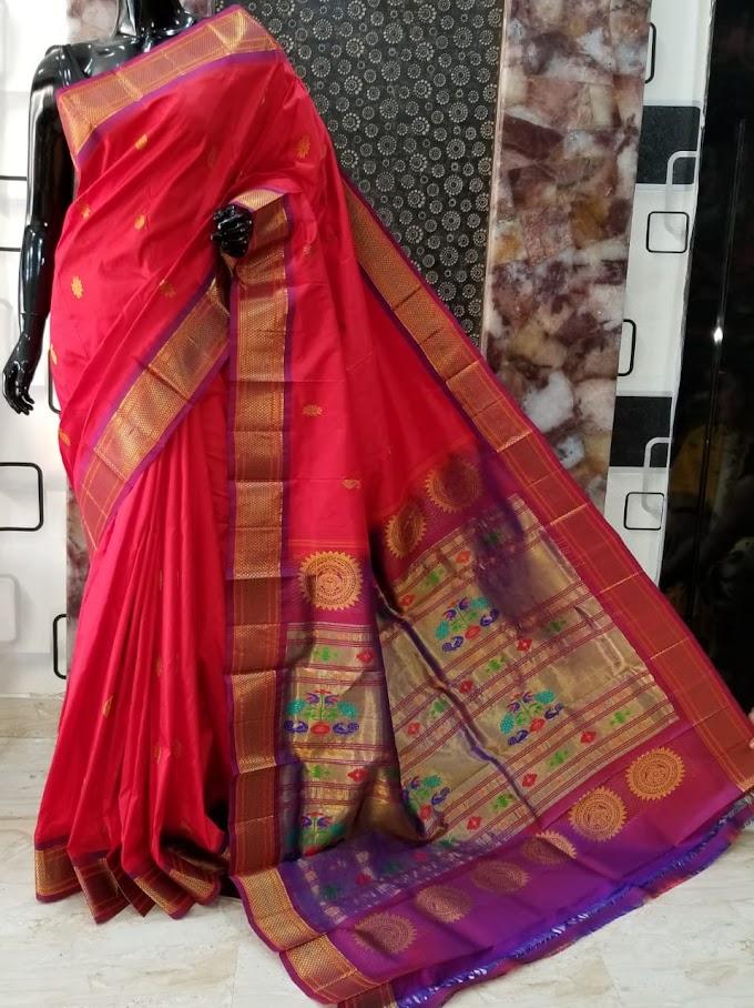 Latest Handwoven Paithani Maharani Pure Silk Sarees