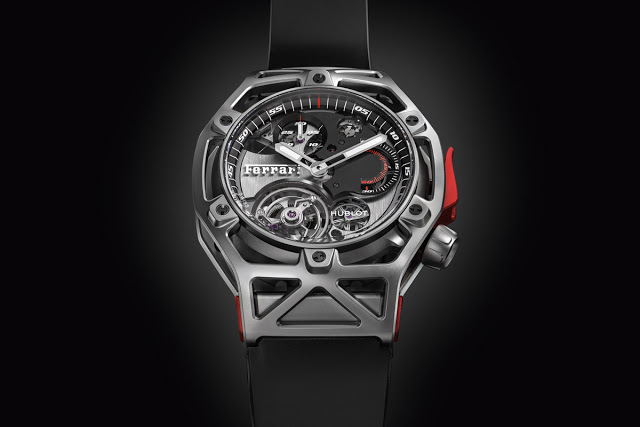 montre luxe collection hublot techframe ferrari 70 years tourbillon chronograph 408. Black Bedroom Furniture Sets. Home Design Ideas