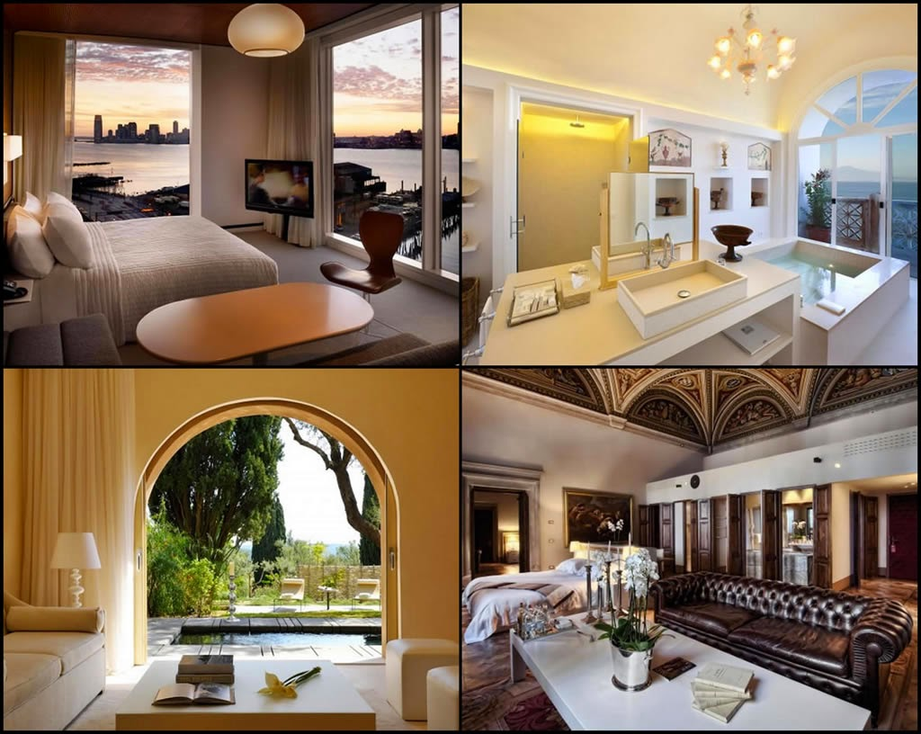 Passion for luxury 10 most stylish and sexy bedrooms for Most stylish hotels in the world