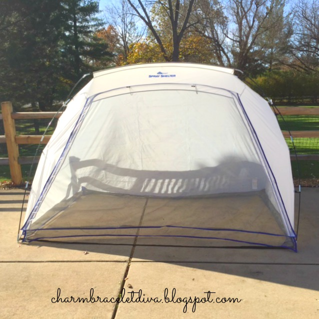 How to set up HomeRight spray paint spray shelter.