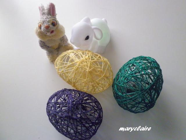 Come creare delle uova decorative con lo spago o con il filo di cotone per Pasqua