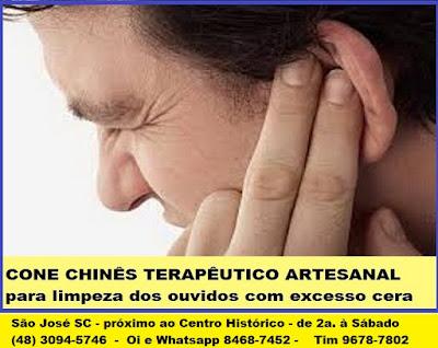 Limpeza de Ouvidos - Tratamento com Cones Chineses - em São José SC, Centro, grande Florianópolis (48) 3094-5746