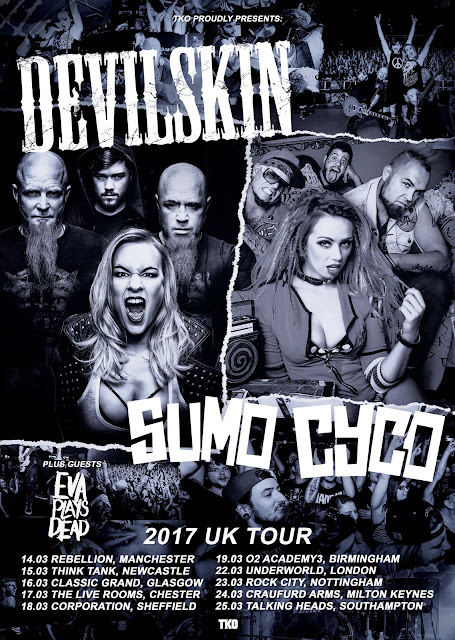 Devilskin Sumo Cyco Tour Poster 2017