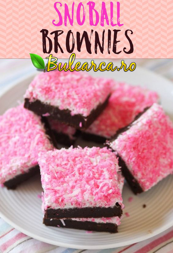 Sno Ball Brownies just like the classic Hostess snack cakes - Retetea Originala in Romana