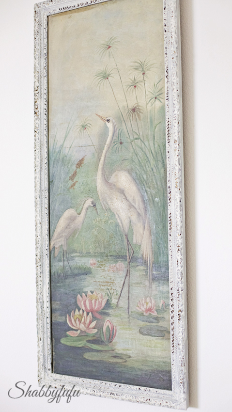 antique bird oil painting