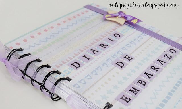 diario de embarazo hecho a mano