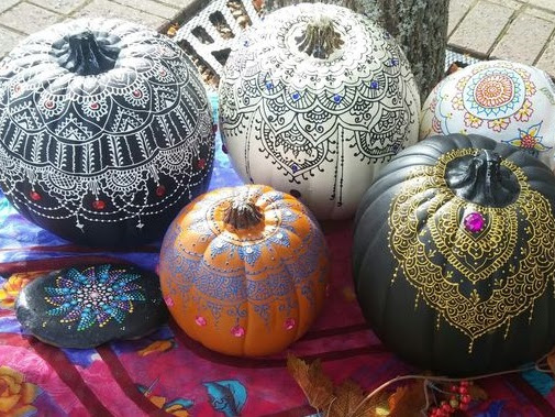 Boho No-Carve Pumpkin Inspiration!
