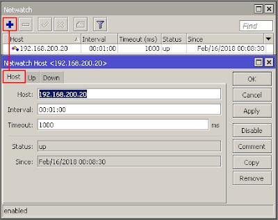 Monitoring Host Pada Jaringan Dengan Tool Netwatch di Mikrotik