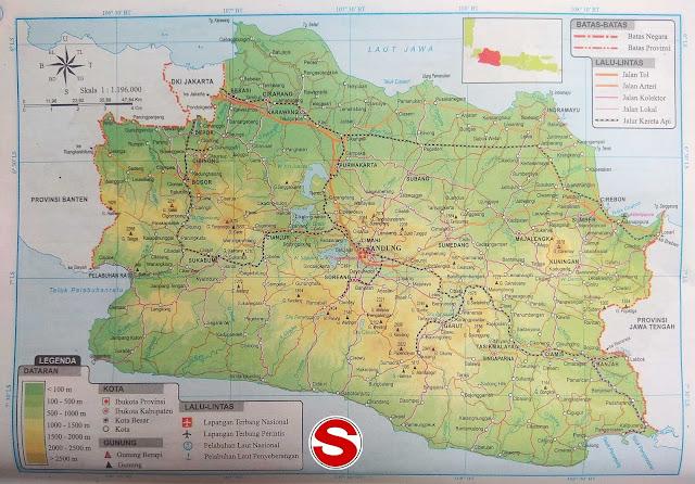 Gambar Peta Jawa Barat HD