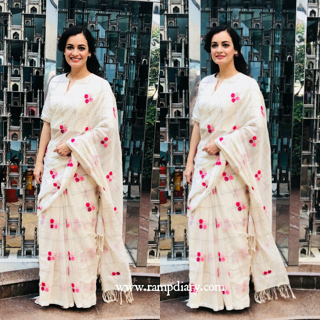 Dia Mirza in Kanelle by Kanika Jain for an event for children in Hyderabad