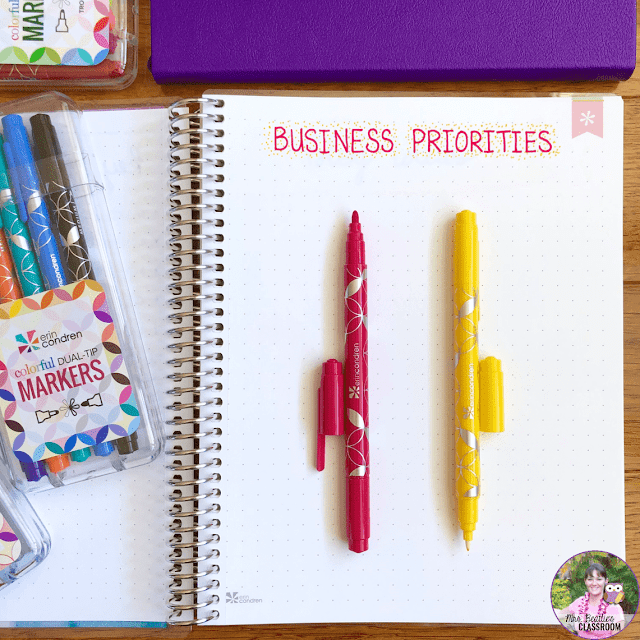Journaling Supplies - Dual-Tip Markers from Erin Condren