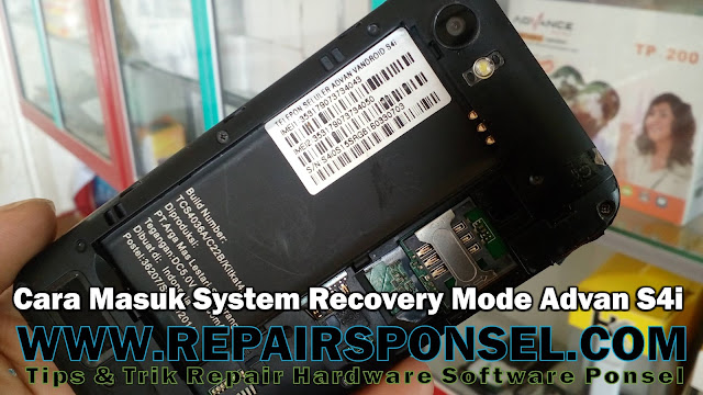 Cara Masuk System Recovery Mode Advan S4i