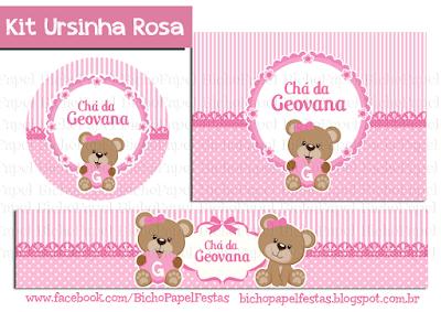 Kit Festa Ursinha Rosa