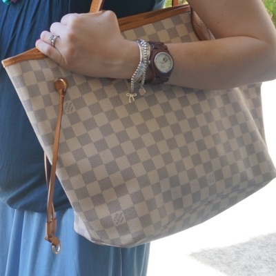 Louis Vuitton MM damier azur neverfull | AwayFromTheBlue