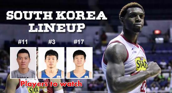 LIST: Korea's Lineup vs Gilas Pilipinas 2018 ASIAD Basketball Tournament