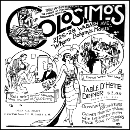 the digital research library of illinois history journal the 7859 S Ashland Chicago colosimos cafe 2126 s wabash chicago menu opening page