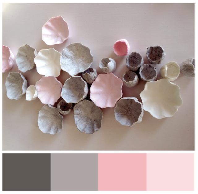 matrimonio sostenibile  2018 con i fiori di carta: grigio e rosa di Alessandra Fabre Repetto Roma