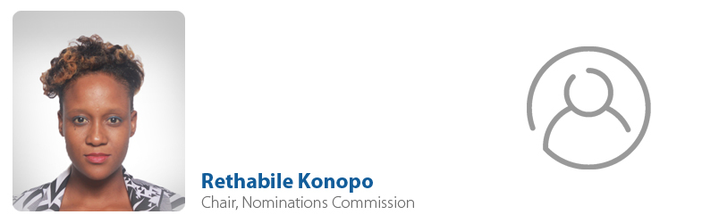 Rethabile Konopo, IYF Chair of Nominations Commission