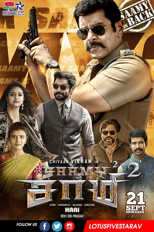 Saamy 2 (Saamy Sequel) 2019 Hindi Dubbed 720p HDRip 900MB ESubs Free Download