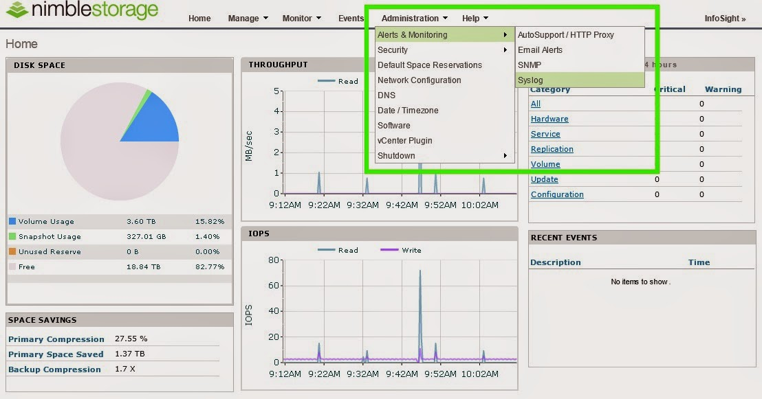 Glick's Gray Matter: Nimble Storage Syslog with Splunk