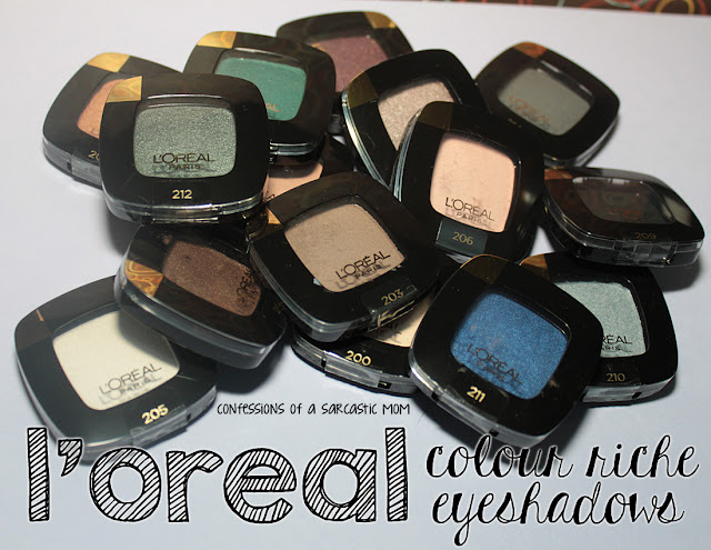 L'Oreal Color Riche Eyeshadows