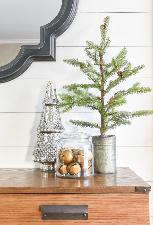 Decorate with faux greenery