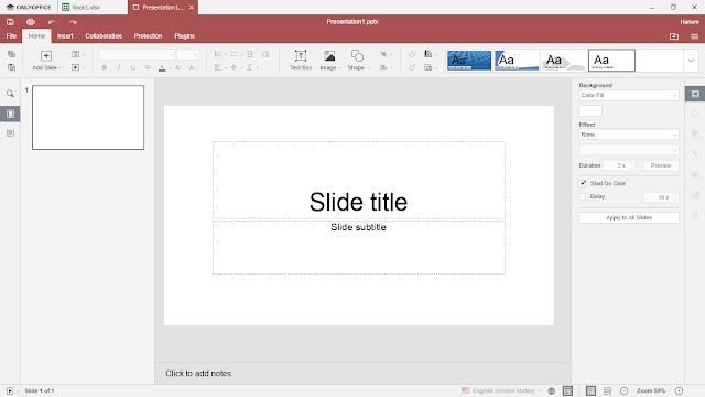 Onlyoffice presentation