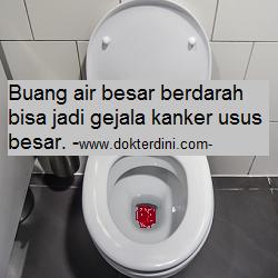 buang air besar berdarah, blood stool, blood toilet, colon cancer