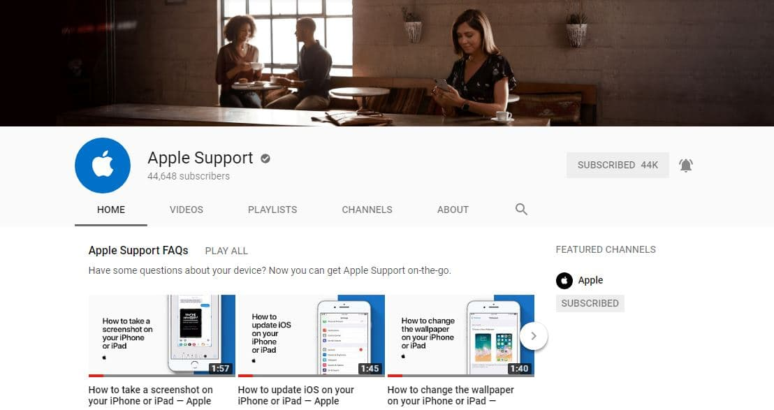 AppleSupport is on Youtube - Offers interesting Tips & Tricks and How To Videos