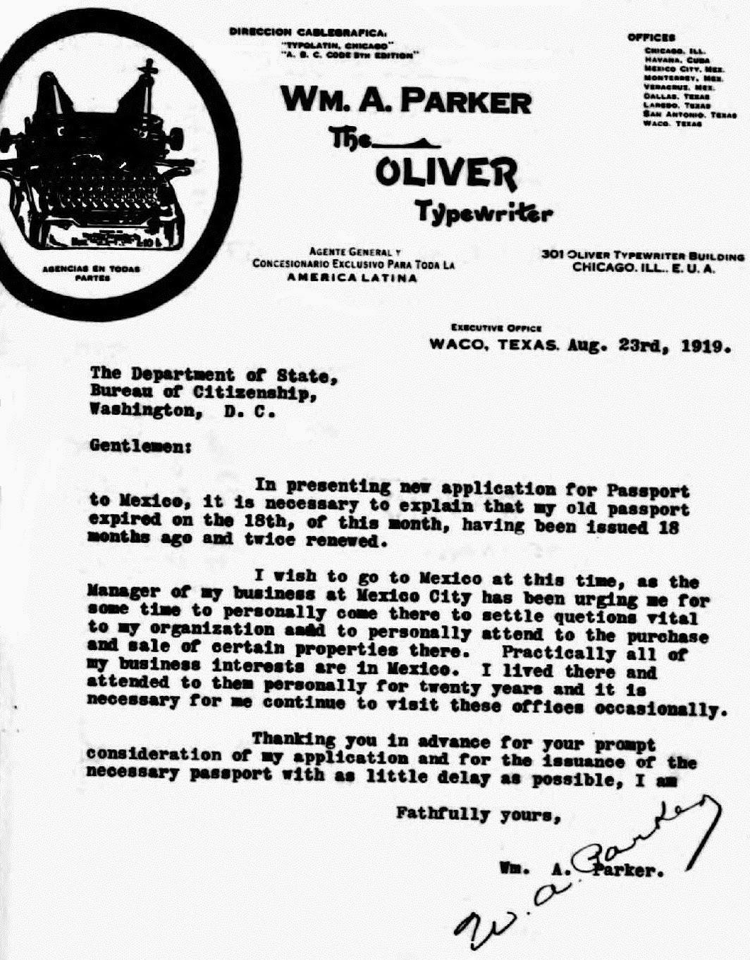 oz.Typewriter: King Bill of Mexico