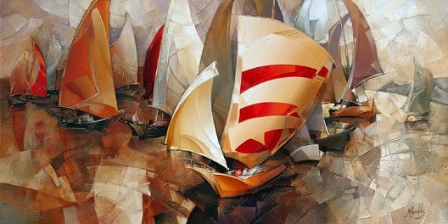 Израильский художник. Nathan Brutsky 9